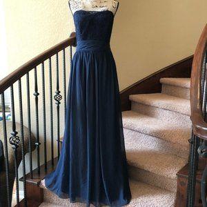 B2 Jasmine Blue Lace Strapless Dress NWT 14